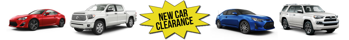 Toyota Demo's & Clearance