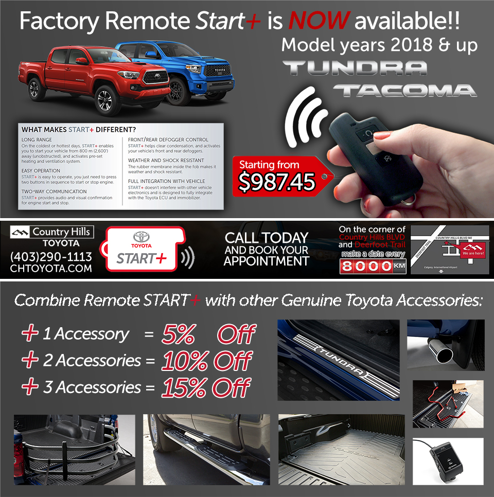 FACTORY REMOTE START+ NOW AVAILABLE FOR TUNDRA & TACOMA